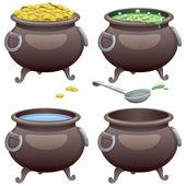 Pots Set — Stock Vector