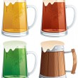 Beer Mugs — Stockvectorbeeld