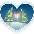 Vector de stock : Love Trees