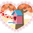 Love Nest - Stock Vector