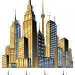 Comic Book City — Stock Vector