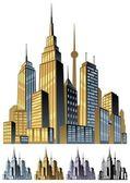 çizgi roman şehir — Stok Vektör