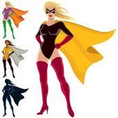 Superbohater - kobieta — Wektor stockowy
