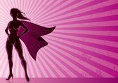超级女主角背景 — 图库矢量图片