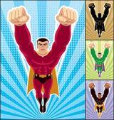 Superhéroe volando — Vector de stock