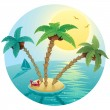 Small Island Landscape — Stock Vector