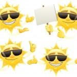 Sun Presenting — Stock Vector #9171924