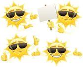 Sun Presenting — Stock Vector