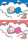 Sleeping Baby — Stock Vector