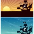Постер, плакат: Pirate Backgrounds