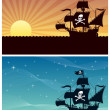 Pirate Backgrounds — Stock Vector #9425299
