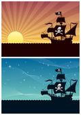 Pirate Backgrounds — Stock Vector