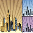 Stock Vector: Cityscape Vertical