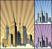 Paysage urbain vertical — Vecteur
