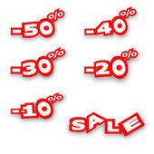 The percentage discount — Stock Photo