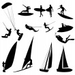 Royalty-Free Stock Photo: Silhouettes of water sports