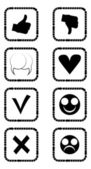 Social icons in black and white — Stock Vector