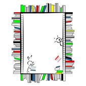Frame made of books — Stock Vector