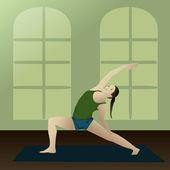 Yoga Reverse Warrior 2 — Stock Vector