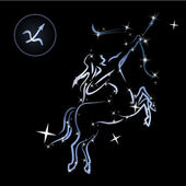 Sagittarius/Lovely zodiac sign formed by stars — Vetorial Stock