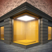 Blank template corner showcase. — Stock Photo