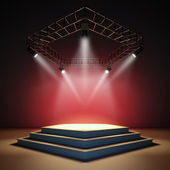 Empty stage. — Stock Photo