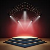 Empty stage. — Stock Photo