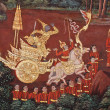 Thai temple mural — Stock Photo
