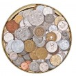 Stock Photo: Coins currency from multiple countries
