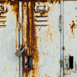 Old metal lockers background - Stock Photo