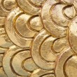 Stock Photo: Golden dragon scale