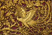 Old phenix golden plate — Stock Photo