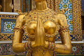 Female Garuda mid section in Grand Palace Bangkok Thailand — Stock Photo