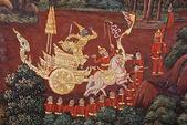 Mural de templo tailandês — Foto Stock