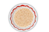 Brown rice in a bowl — Stock Photo