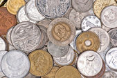 Coins currency from multiple countries — Stock Photo