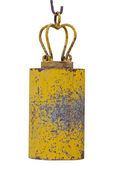Yellow asian temple bell — Stock Photo