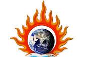 Burned earth symbol — Stock Photo