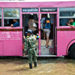 Bangkok worst flood in 2011 - Stock Photo