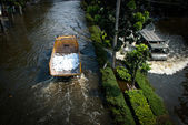Bangkok worst flood in 2011 — Stock Photo