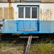 Old and decommissioned train cabin - Stock Photo