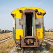 Yellow passenger compartment train — Stock Photo