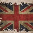UK flag on old vintage paper — Stock Photo #8969588