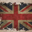 UK flag on old vintage paper - Stock Photo