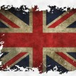 Stock Photo: UK flag on old vintage paper in isolated white background