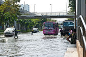 Bangkok worst flood in 2011 — Stock Photo