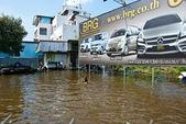 2011 年のバンコクの最悪の洪水 — ストック写真