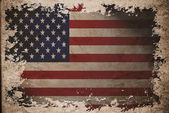 US flag on old vintage paper — Stock Photo
