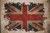 UK flag on old vintage paper — Stock Photo