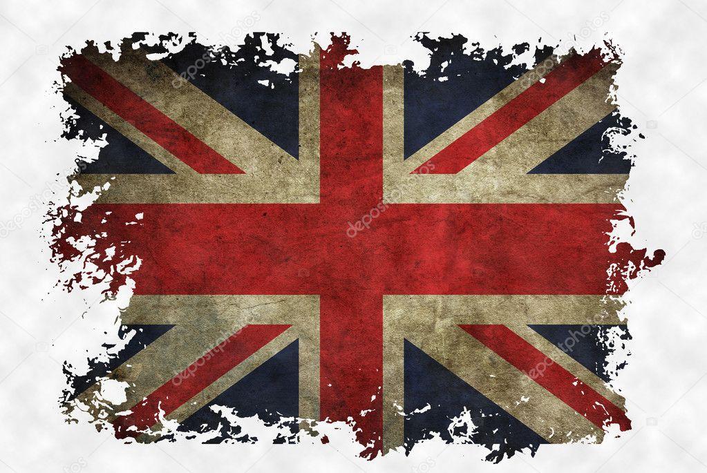 Bandera del reino unido en papel antiguo vintage en fondo - Dibujo bandera inglesa ...